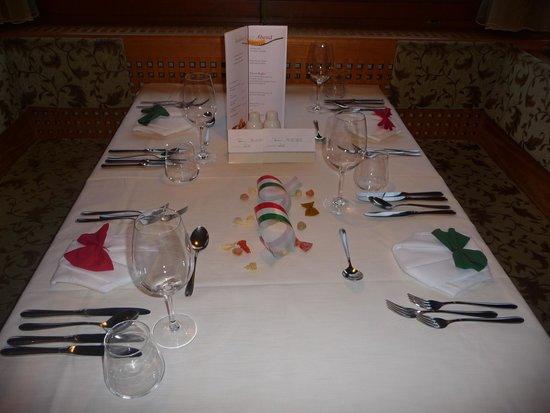 Hotel St Veit: Gedeckter Tisch beim Galadinner