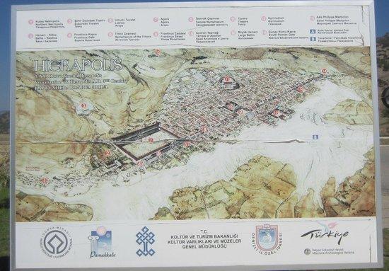 Anatolia Cemetery: Карта Иераполиса и Травертин Памуккале