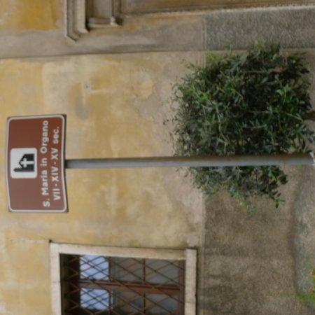 The Church of Sant'Eufemia: Sign Post outside