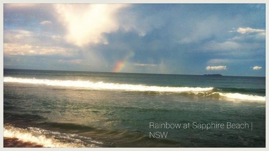 Sapphire Beach Holiday Park: Rainbow at Sapphire Beach.