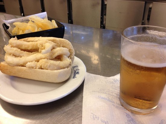 El Brillante : Mini bocadillo de calamares