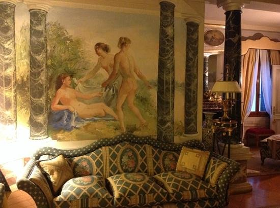 Villa Margherita Hotel: interior sitting area