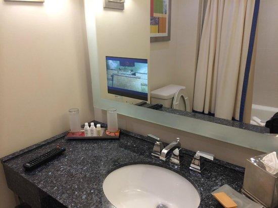 Renaissance Schaumburg Convention Center Hotel: TV in the bathroom