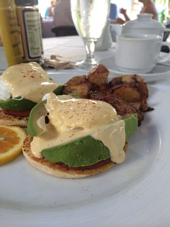 The Restaurant at La Te Da: Eggs Benedict with Avocado