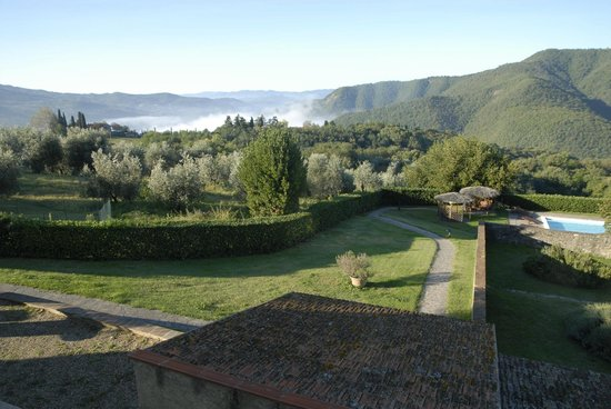 Rufina, Italy: view from the bedroom in the morning