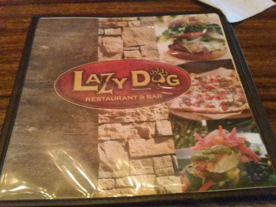 Lazy Dog Restaurant & Bar : The menu