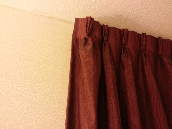 Econo Lodge Buckley : black mold on walls and curtain