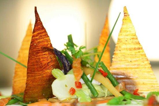 Un air de campagne: Salade fraîcheur en croustillant de pommes de terre