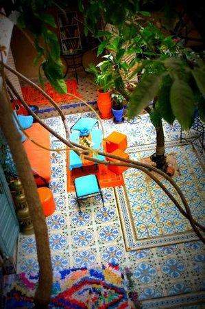 Riad Al Nour : Vu sur le patio