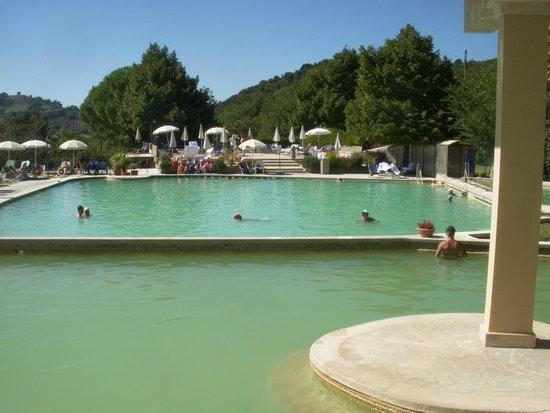 The Pool area - Picture of Albergo Posta Marcucci, Bagno Vignoni ...