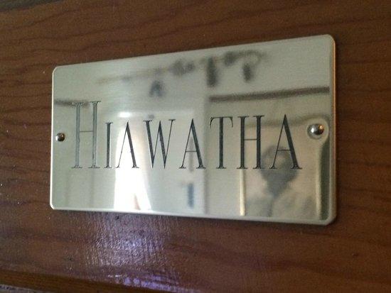 Deer Head Inn Name Tag on each door & Name Tag on each door - Picture of Deer Head Inn Mackinaw City ...