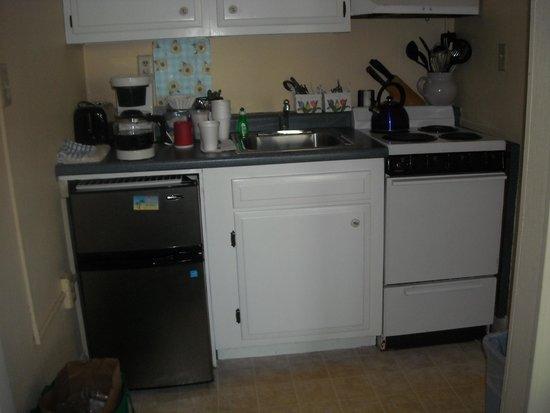 The Garlands: Brand new refrigerator in the kitchen