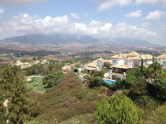 Casa El Aguila: Blick von der Terrasse auf ins Tal