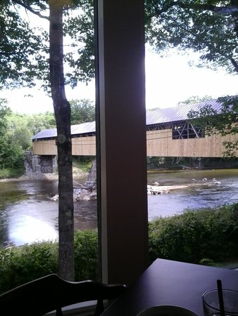 Covered Bridge Farm Table: the view