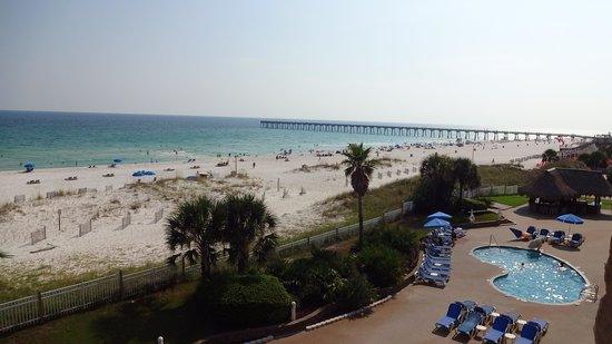 Hampton Inn Pensacola Beach: View from room with balcony