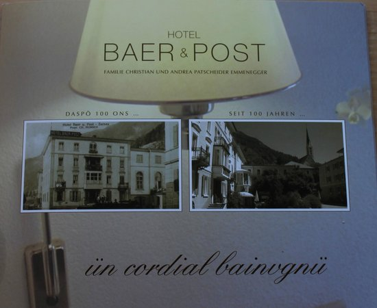 Hotel Baer & Post: Brochure in the rooms