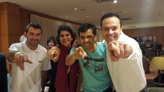 Novotel Sao Paulo Center Norte : Curtindo a vida com os amigos da Colômbia e brasil.