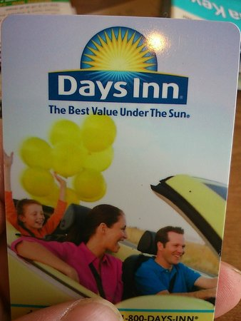 Days Inn Homestead: my room card