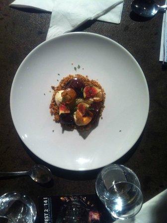 la maroquinerie : The roasted fig dessert