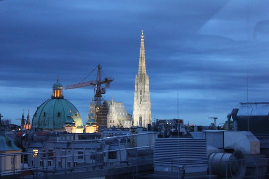 Steigenberger Hotel Herrenhof Wien: cathedral from a stairwell to roof