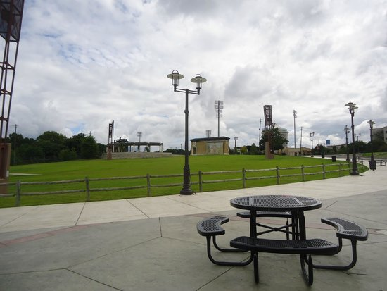 Riverfront Park: Baseball Stadium in distance