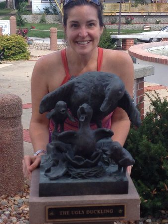 The Little Mermaid of Kimballton: There are very cute statues all around the mermaid