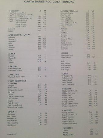 Hotel Roc Golf Trinidad: Lista de precios