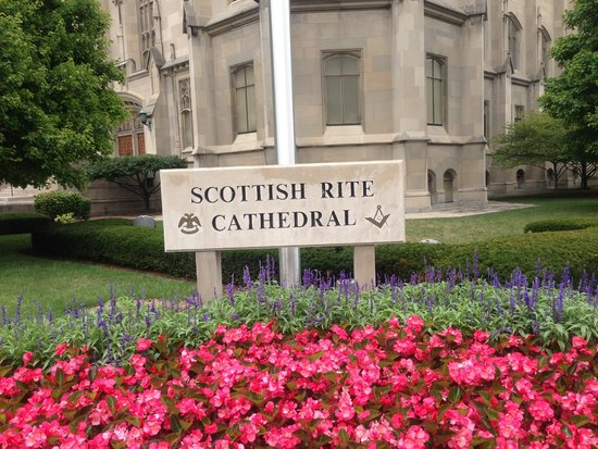 Scottish Rite Cathedral: The sign at the Cathedral