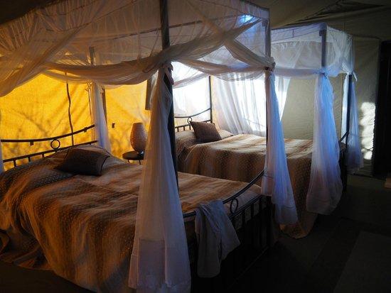 Ngorongoro Wildcamp: Bed- and livingroom