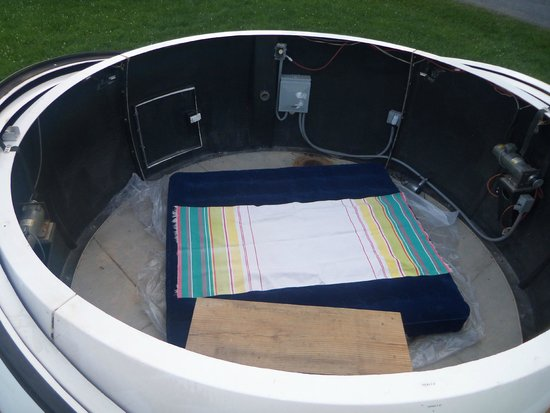 Cherry Springs State Park : King air mattress inside observatory