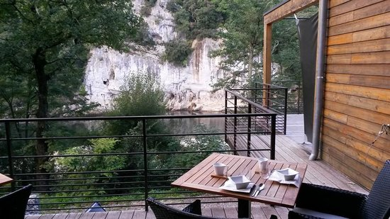 Prehistoric Lodge : terrasse avec sa vue