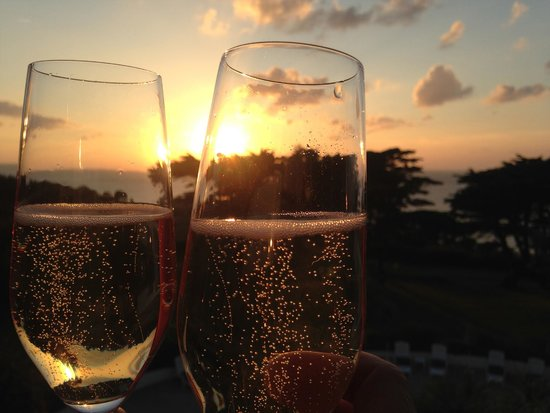 The Atlantic Hotel: Champagne moment