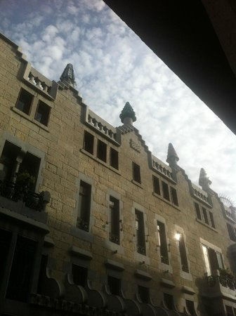 Happy Apartments: view from our balcony of palau guell , and dont hang towels on the front bacony as a £500 fine