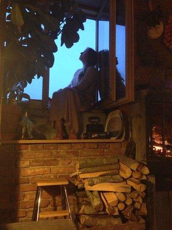 Andrei and Sasha Homestay : столовая с видом на крыши Петербурга