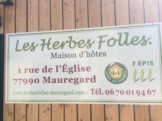 Les Herbes Folles - Maison d'hotes: #1 rue de l'Eglise (not #3 as previously addressed)