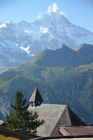 Hotel Jungfrau: incredible view from our balcony