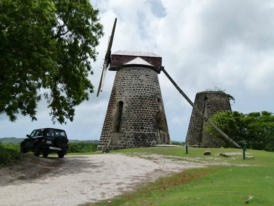 Pelican Safari Tours - Day Tours: Windmill at Betty's Hope Plantation.