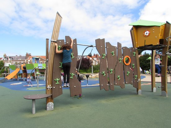Pannett Park: Based on ideas from local school-children the equipment in the children's playground at Pannett