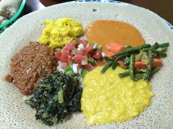 Mahider Ethiopian Restaurant & Market: Vegetarian Combo