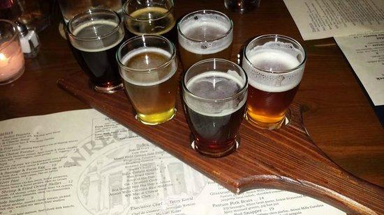 Wrecking Bar Brewpub: Beer Flight with the Menu