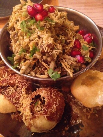 Indian Tiffin Room: The grazing platter, a delicious selection of the cold starters