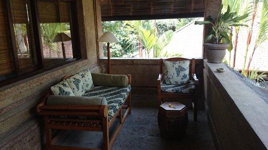 Taman Rahasia Tropical Sanctuary & Spa : Upstairs room balcony