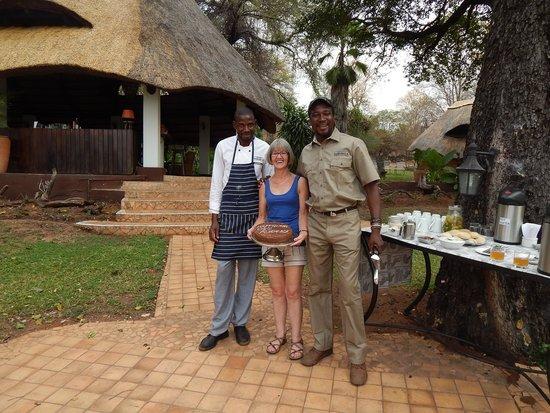 Imbabala Zambezi Safari Lodge : A special birthday cake