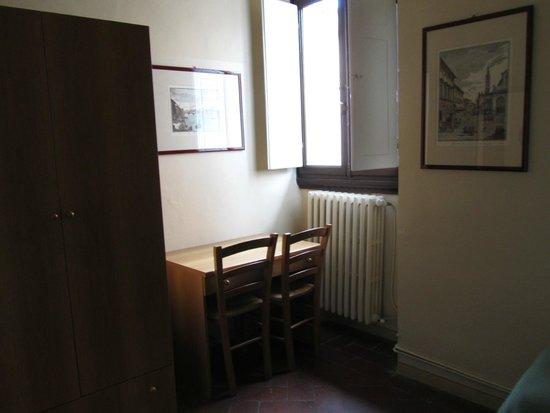7 Santi Hostel: closet y escritorio