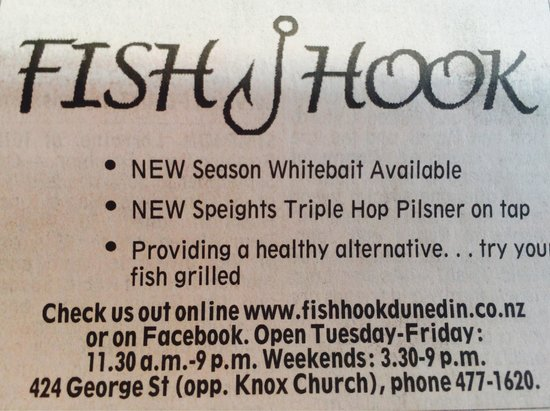 Fish hook: Healthy alternative - I like it!