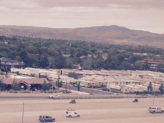 Holiday Inn Reno-Sparks: View from the room, interstate and industrial park