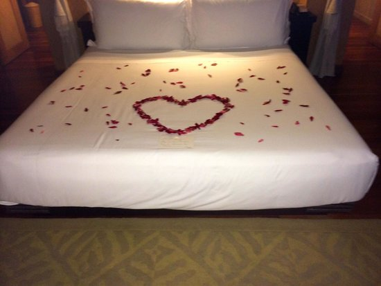 The St. Regis Bora Bora Resort: This is what greeted us on our bed upon arrival
