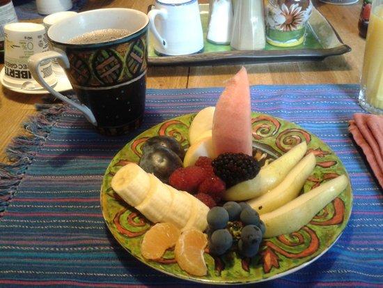 Angela's Bed & Breakfast Ottawa: café com frutas caseiras