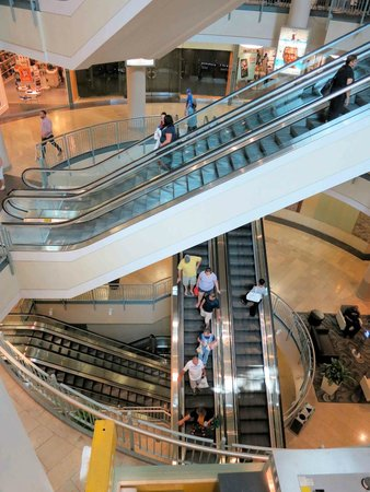 Circle Center Mall - escalators at food court - Picture of