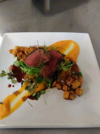 The Hart Inn: Wild roe deer fillet with textures of butternut squash